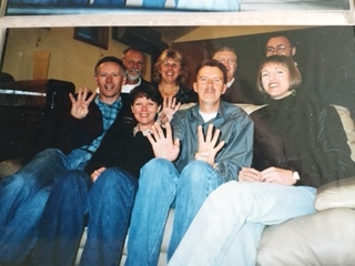 This photo was taken in 1998. Trevor and Jenny were on their way to Canada for 12 months.