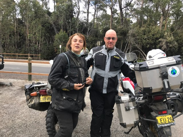 Miriam at Lake St Clair with a fellow motorcyclist, who just happened to be a neighbour to my daughter-in-laws family. It's a small world and getting smaller.