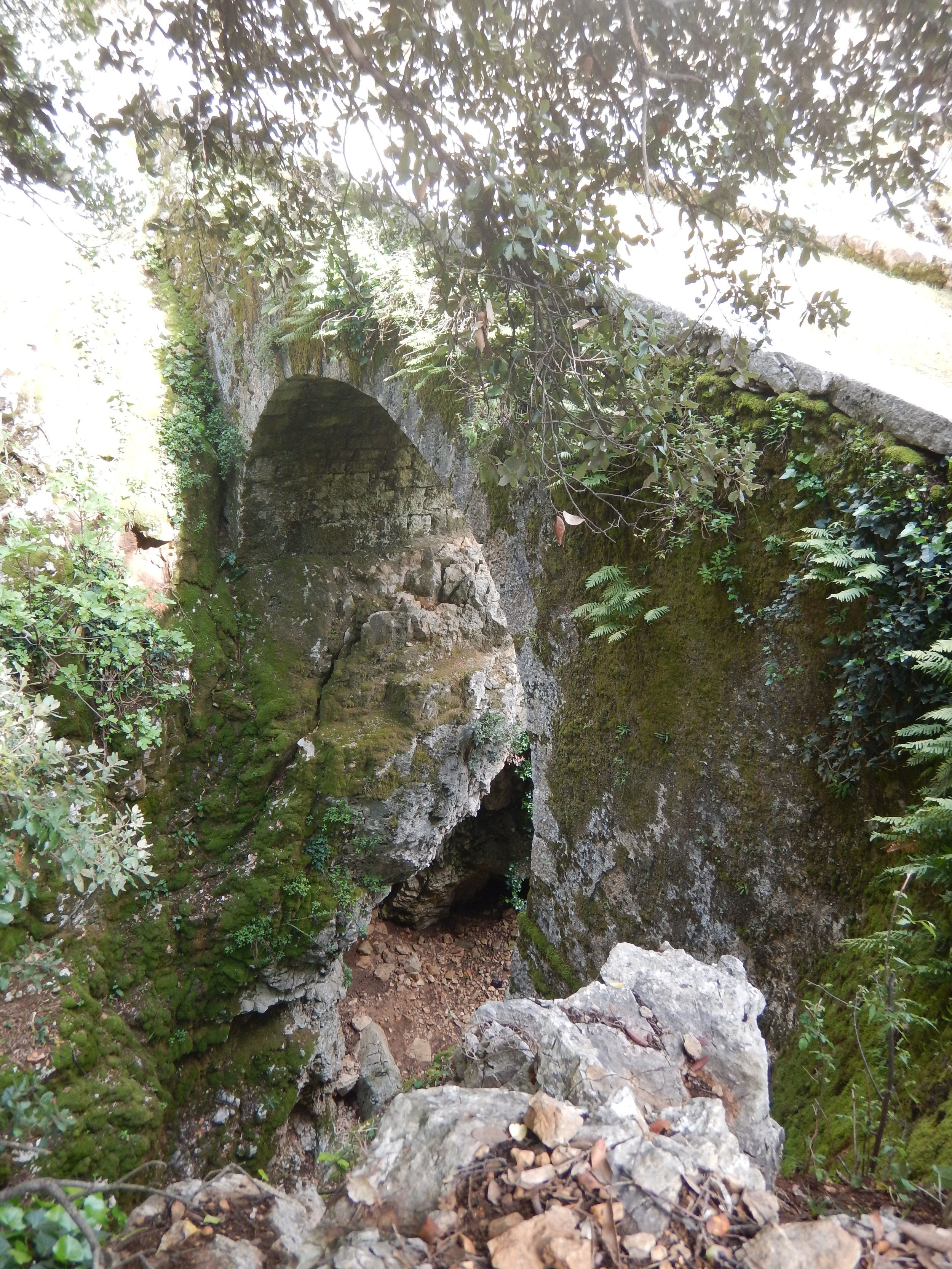Part of the Roman bridge. Further upstream are two Roman wells.