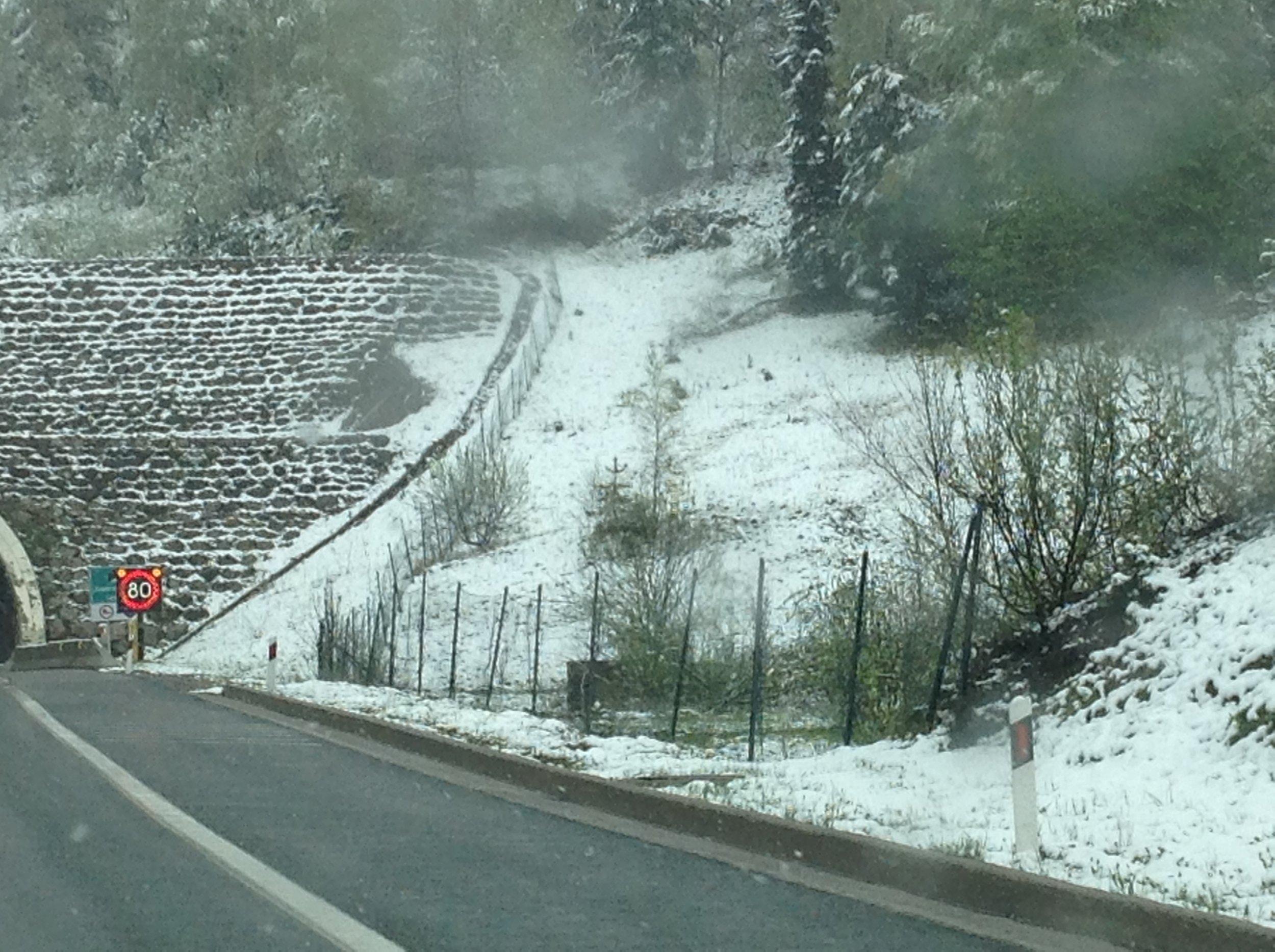 Just a little bit of snow.
