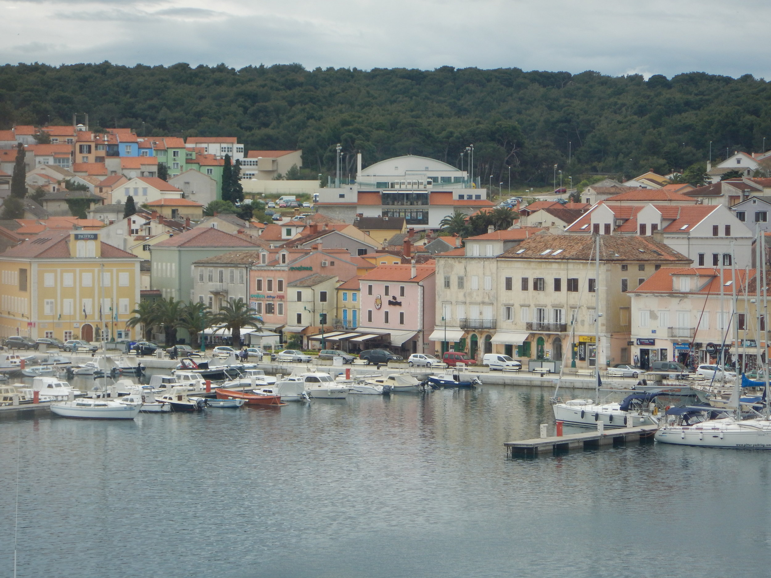 Mali Losinj town on island Mali Losinj. Very sheltered Harbour and was once a busy sailing ship building port..