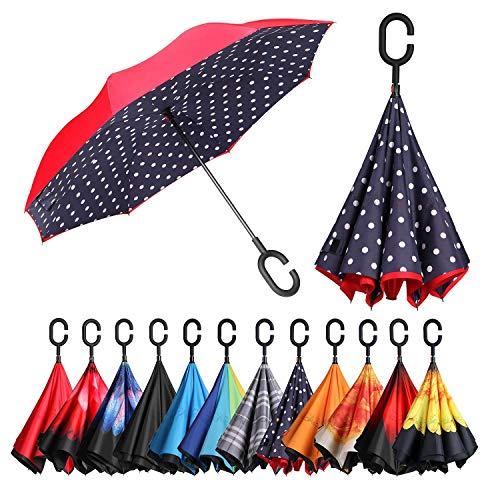 I love these reversed umbrellas.