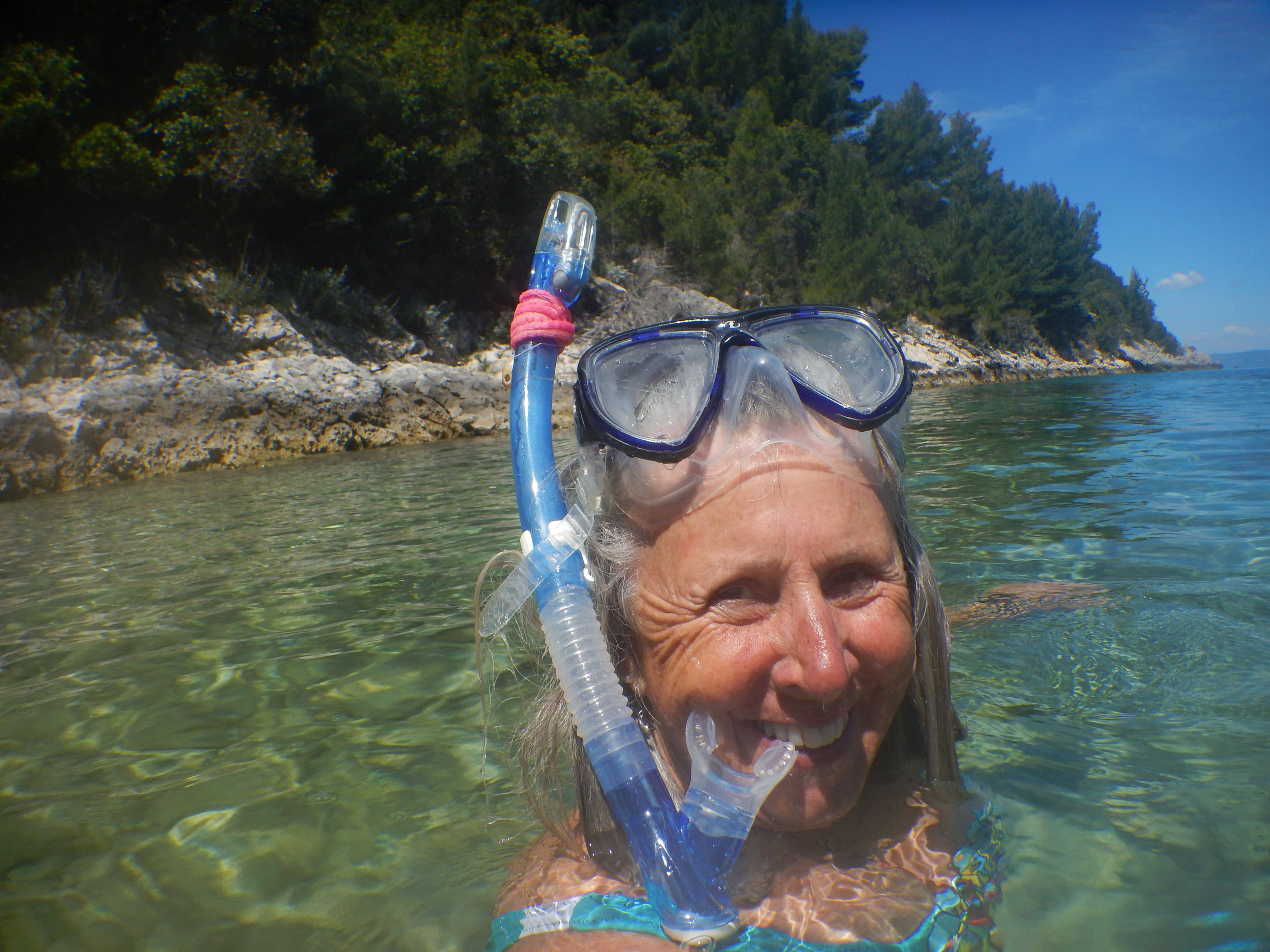 Today for the first time, the water was warm enough to take my Natasha McGhie designer swimwear for a proper snorkel.