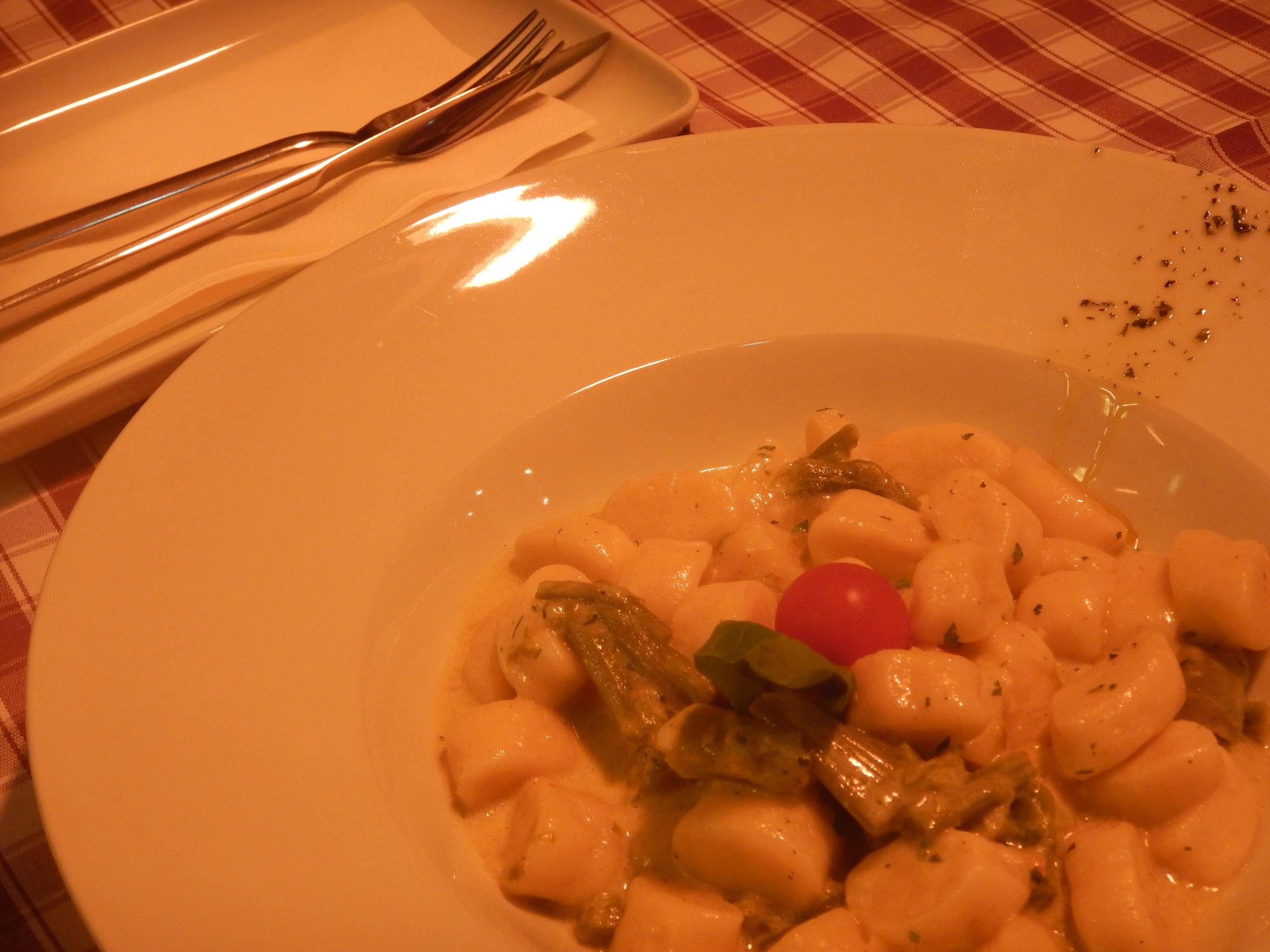 gnocchi and asparagus