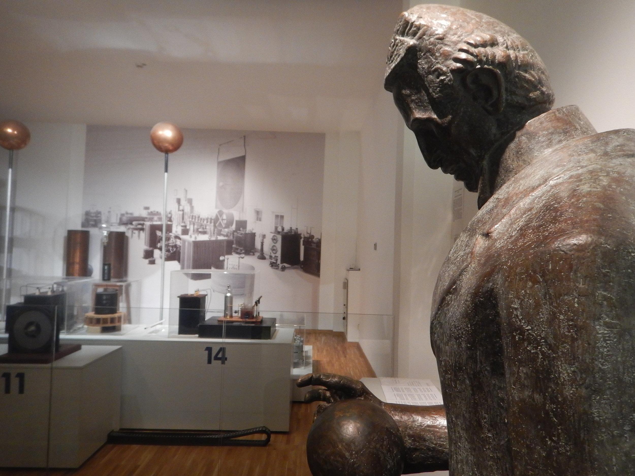 Another bronze sculpture of Tesla