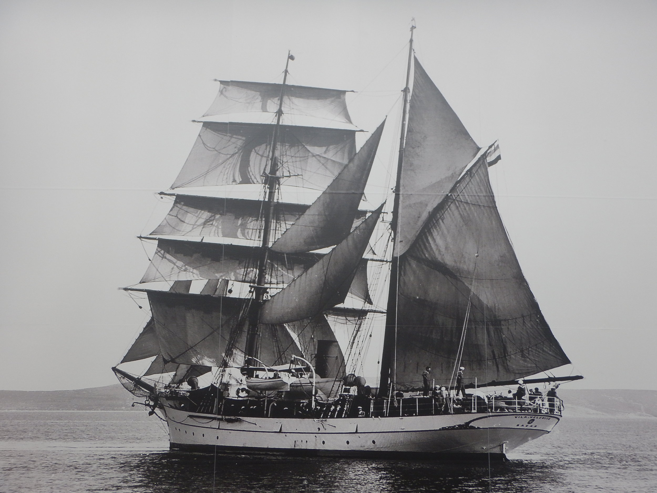 Sailing ship from the early 1900's, just like the two ships the Unkovic brothers bought when they returned from two years working in the forests in Australia.