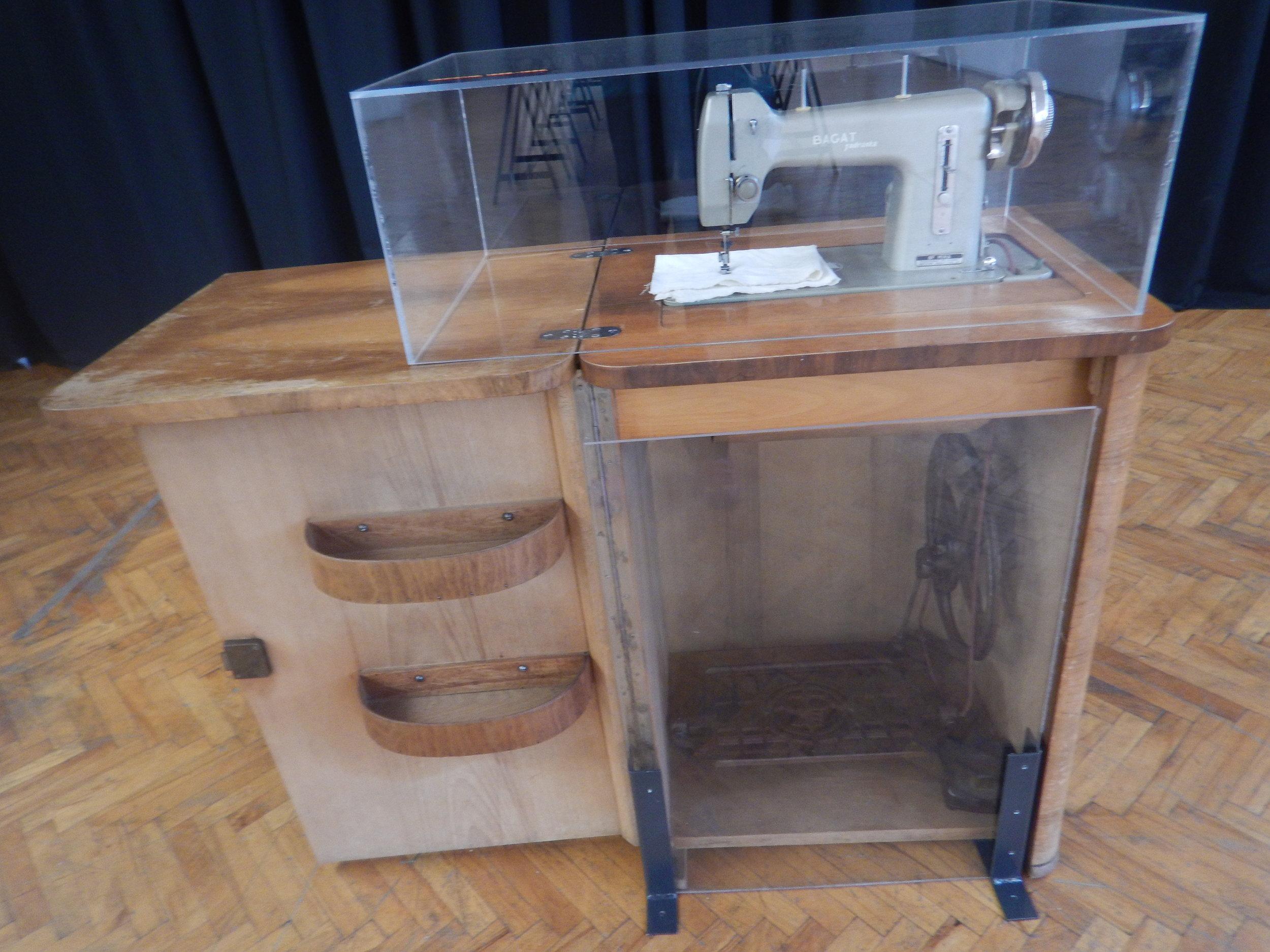 Croatian version of a treadle Singer sewing machine.
