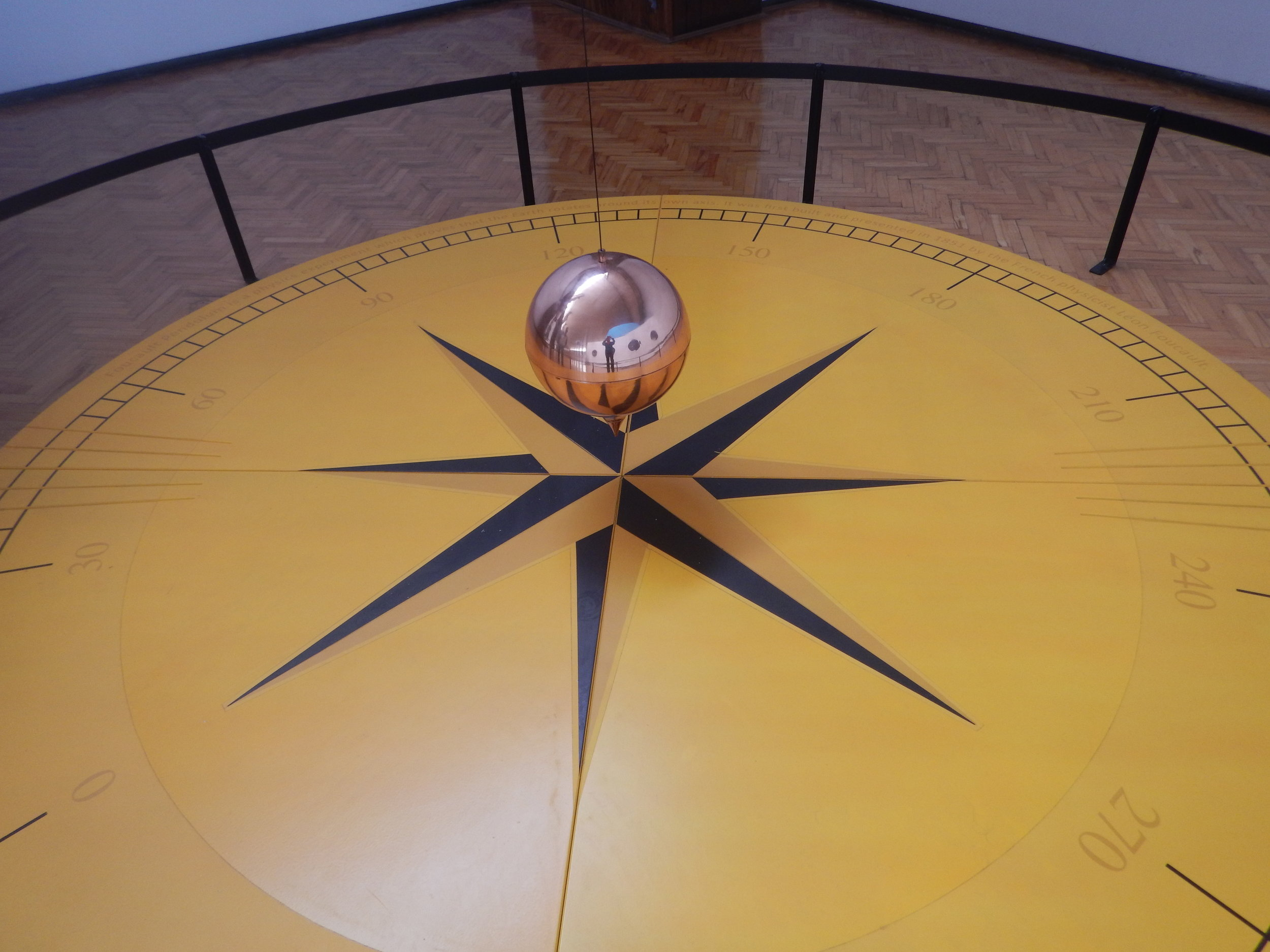 Now this is really interesting. Foucaults Pendulum.