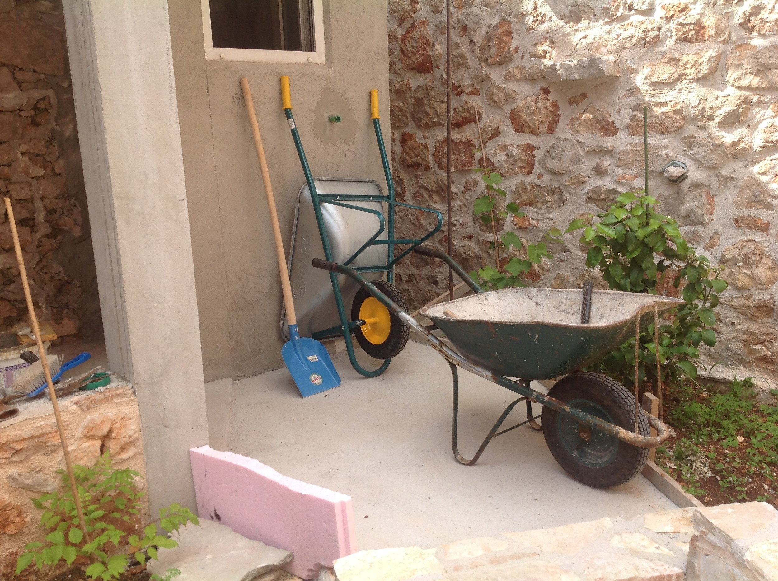 I'm in Croatia, where it seems there is never a wheel barrow to far away. The Croatians call them carry alls.