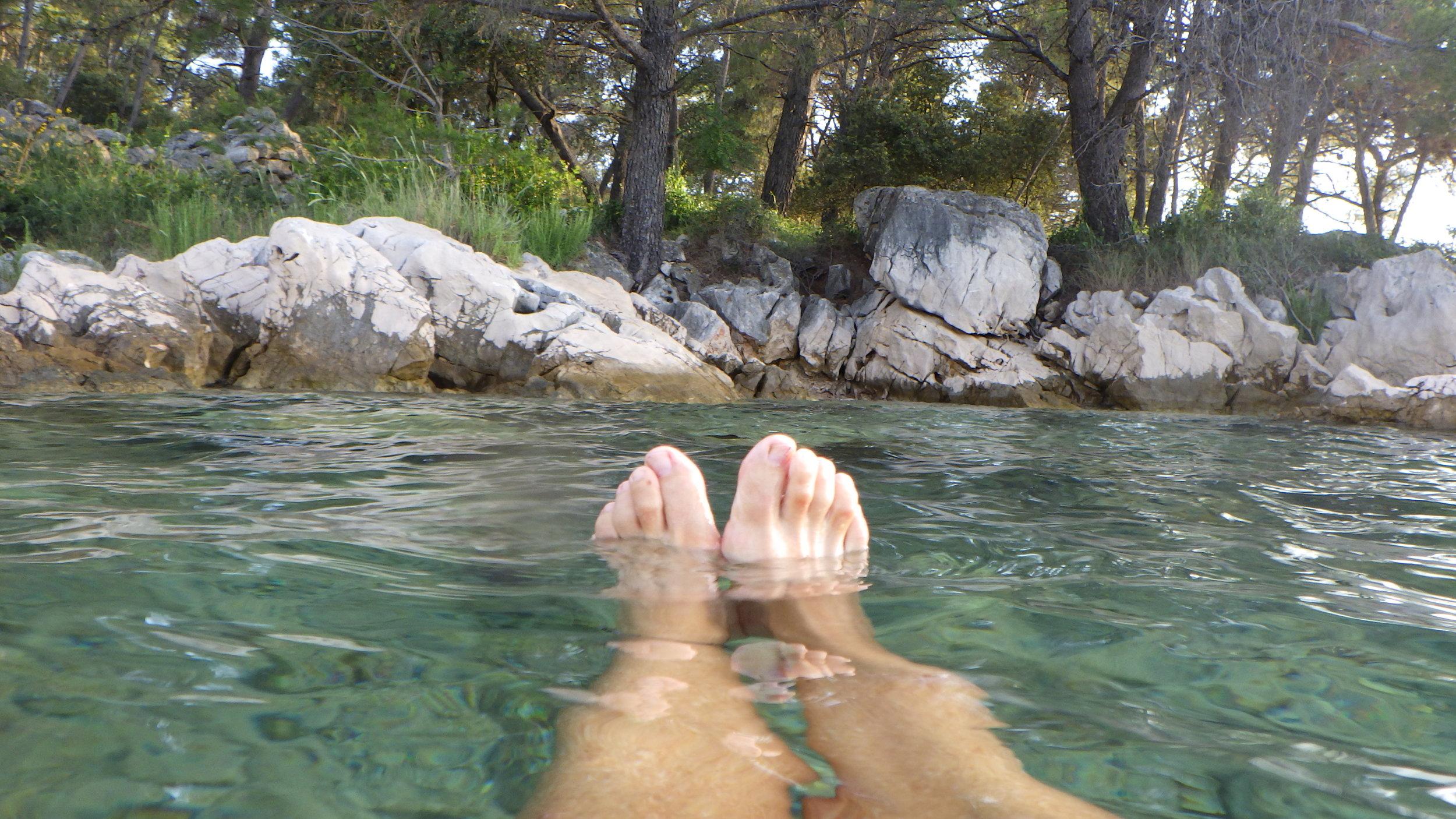 proper solstice swim without even my swim sandals!