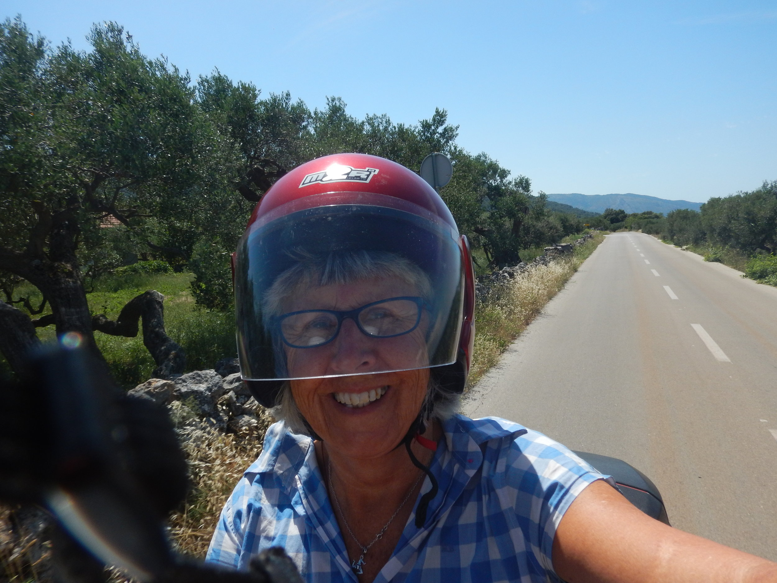 riding through olive groves and vineyards.