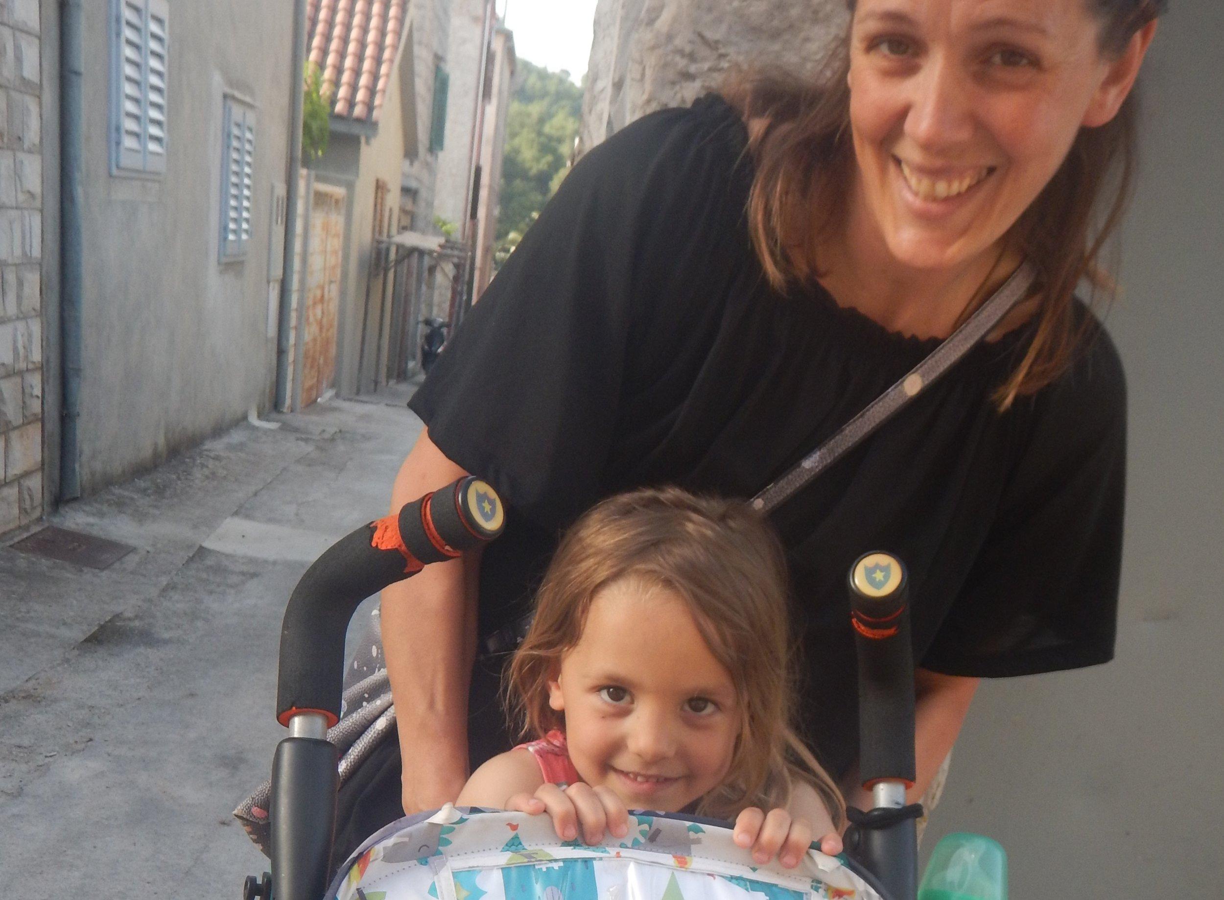 Silvija with her daughter.