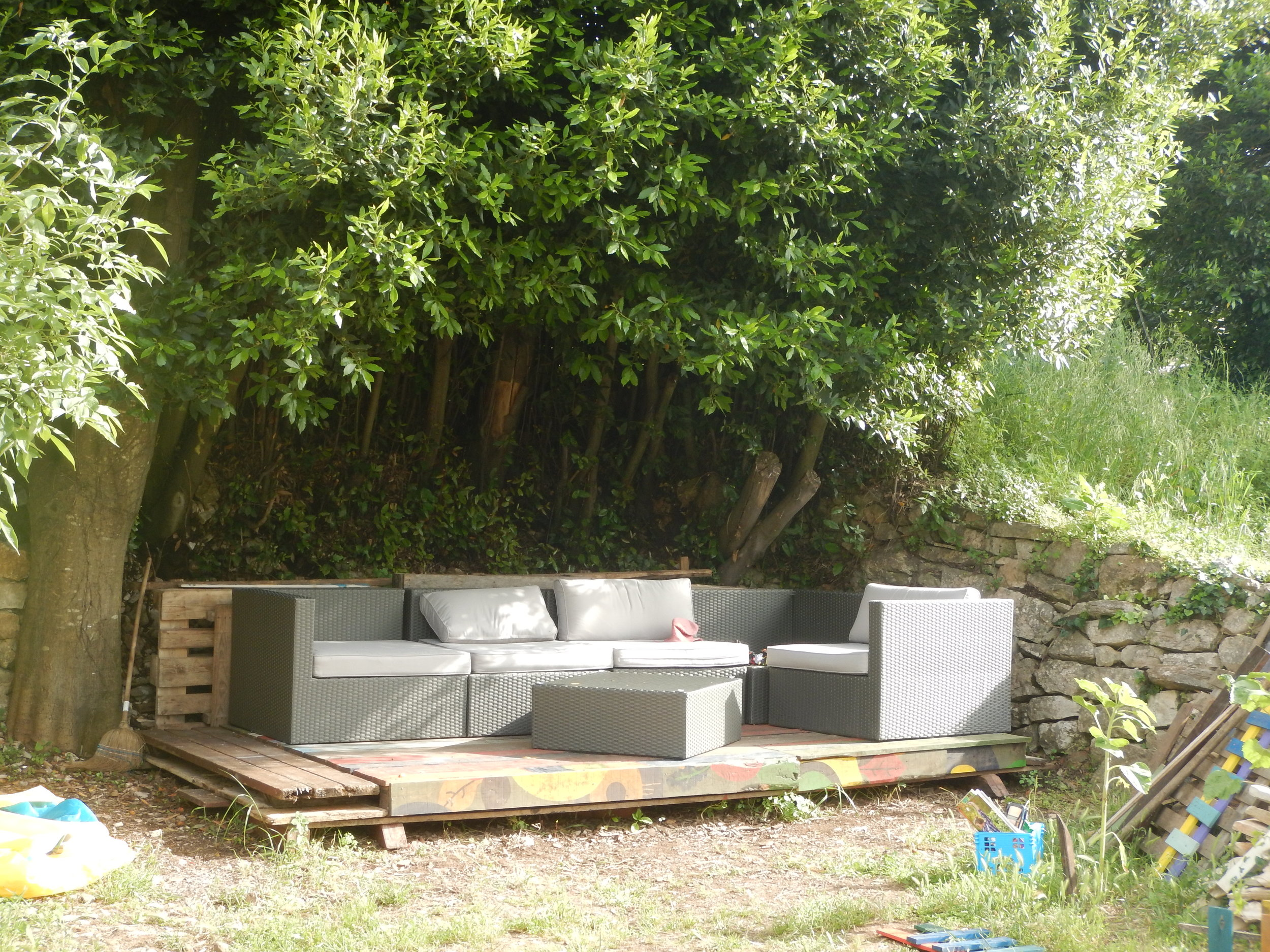 every garden has to have a relaxing outdoor seating area.