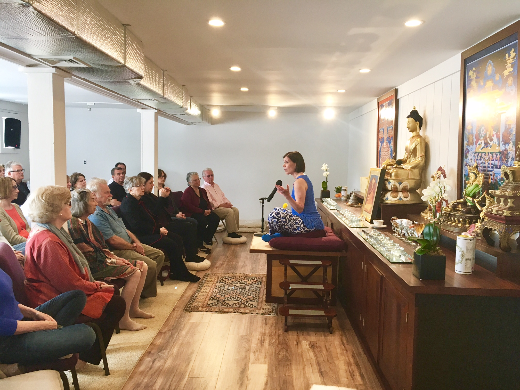 There are many drop-in weekly classes on Buddhism and meditation offered