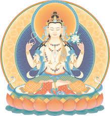 Prayers are made to Buddha Avalokiteshvara, Buddha of compassion,  on behalf of those who have recently deceased