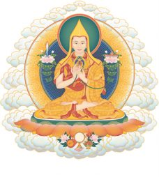 Offering to the Spiritual Guide is a special Guru Yoga of Je Tsongkhapa in conjunction with Highest Yoga Tantra