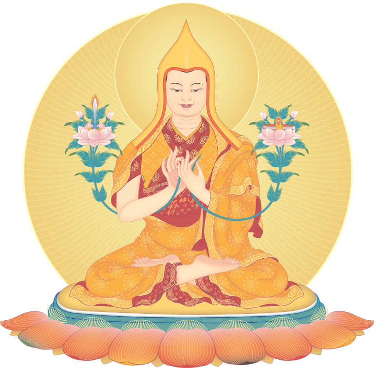 Je Tsongkhapa clarified all the teachings of Kadam Dharma and made them very accessible to the people of that time
