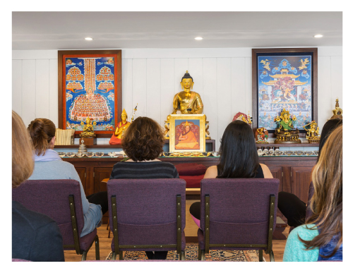 Chanted prayers are offered throughout the month at KMC The Hamptons in Water Mill