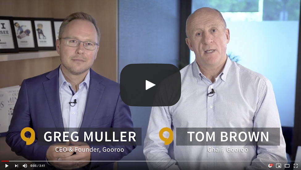 """We're working with companies in areas such as recruitment, bringing together high-performing teams, and with their transformation, as they look to see how they best shape their organisation for the future. All of this is built on our technology, that understands how different people think and make decisions, in their work and in their lives."" - Greg Muller - CEO and founder, Gooroo 