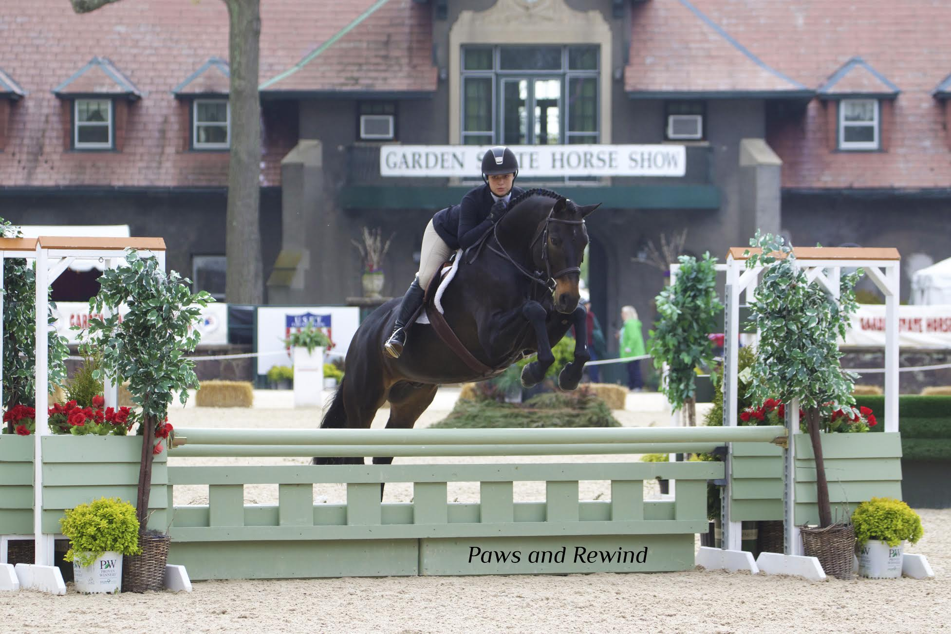 """Suitable Hunter 3"""" winner Angela Cammarata and Eden Rock. Photo by Paws and Rewind"""