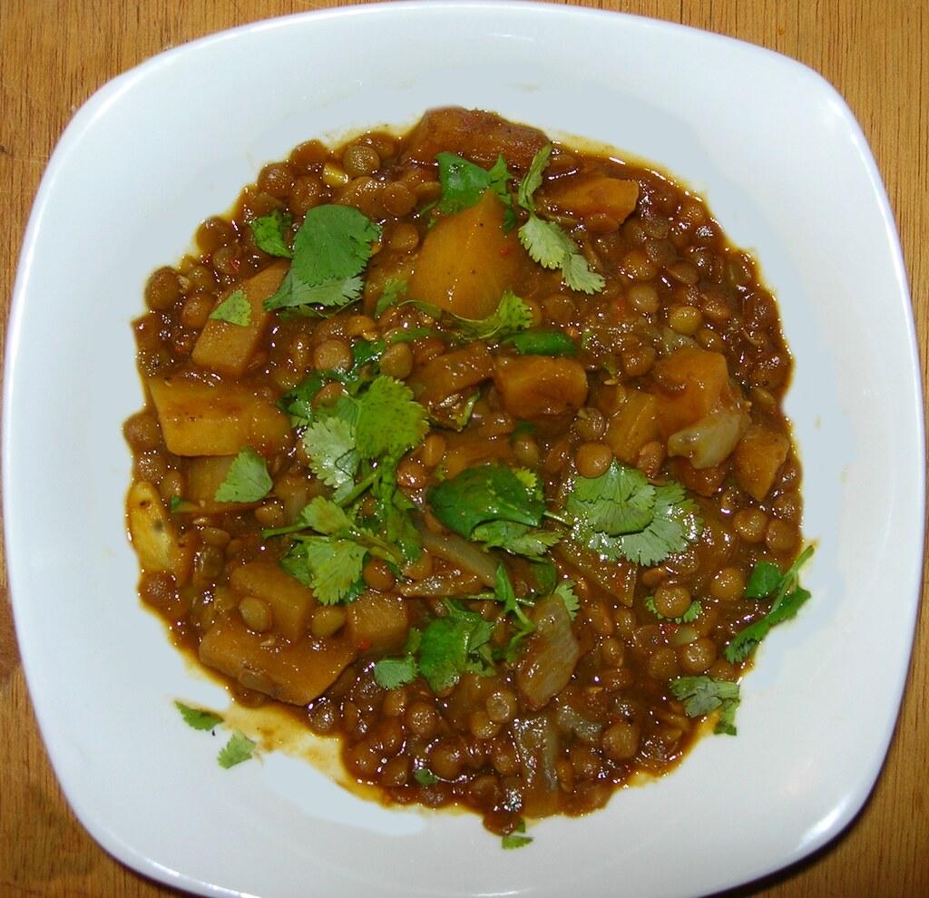 Curried lentils! Mmmm.