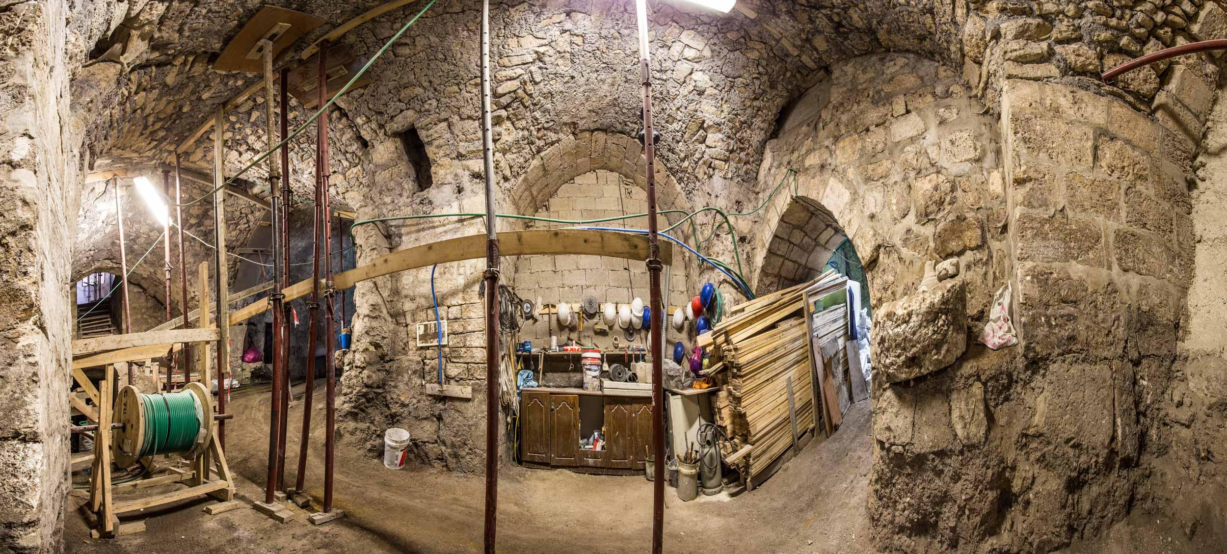 Dar al-Consul Main Hall renovations, Old City, Jerusalem