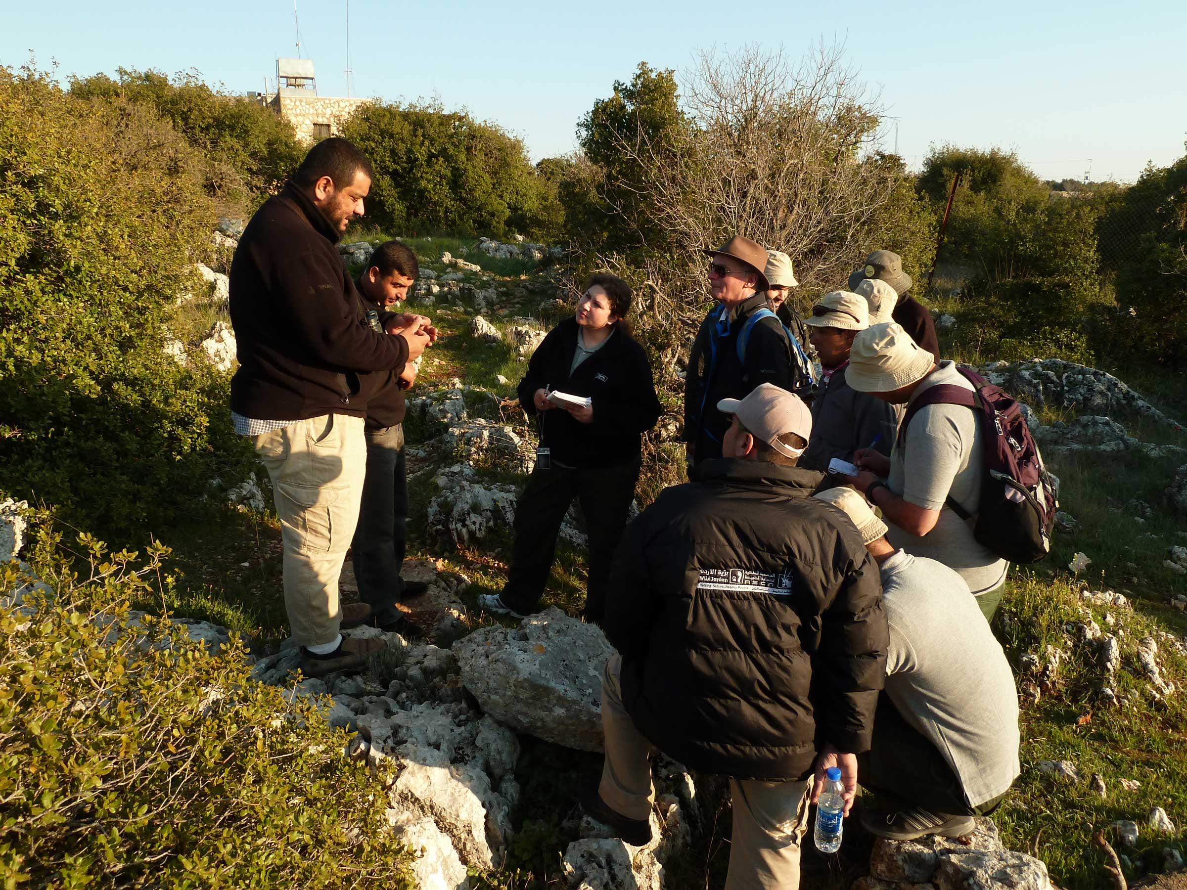 Conservation ranger training, Ajloun Forest Reserve, Jordan