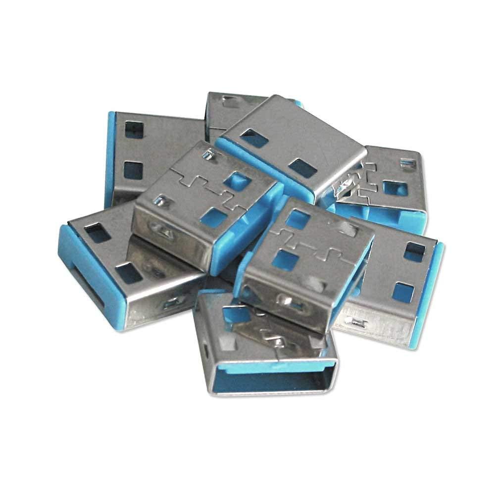 Lindy USB Port Blocker - Pack of 10 - Blue 40462