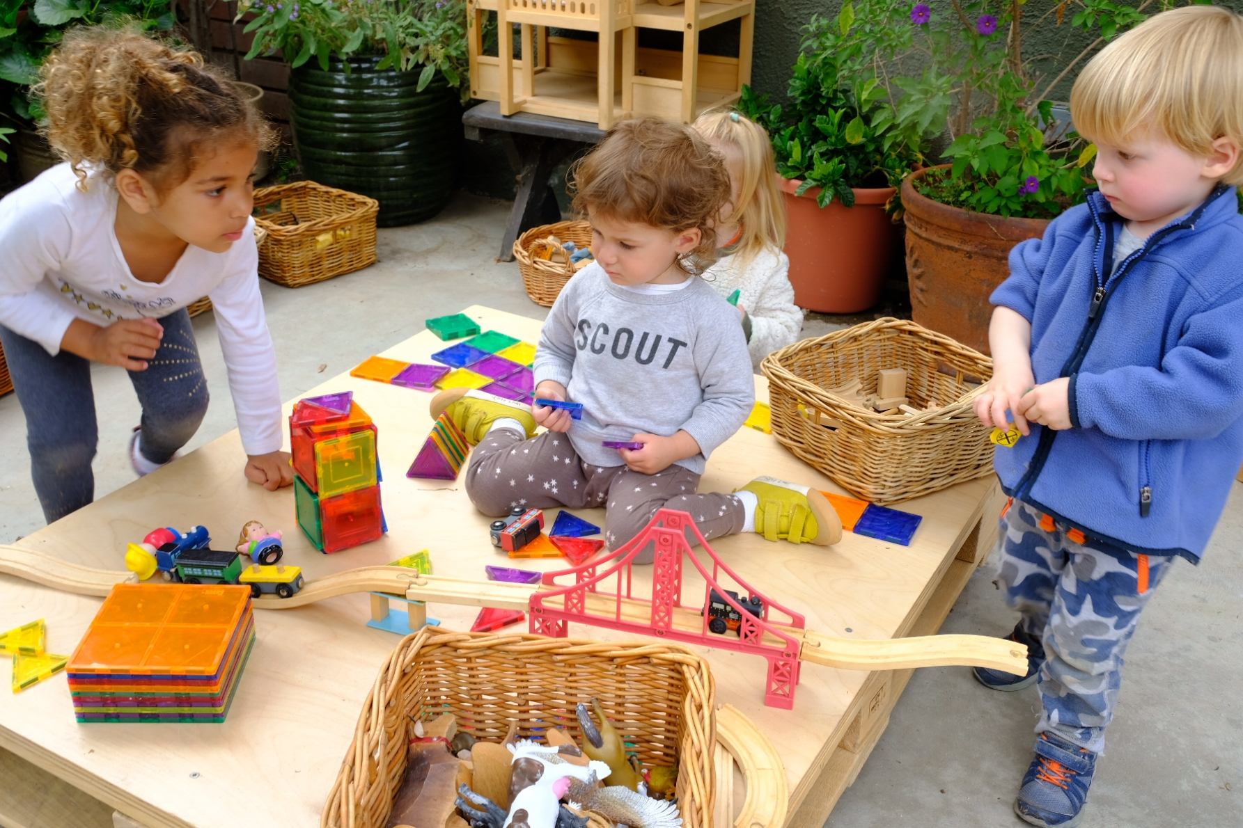 PROBLEM SOLVING - It is developmentally appropriate for children to encounter problems and conflicts as they learn how to navigate socially and emotionally. These challenges invite opportunities for growth and learning. Problem solving strengthens children's sense of self and facilitates positive peer relationships.