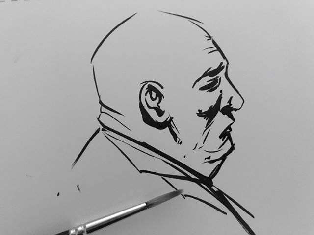 Inktober Day 4: The scariest monster yet, the double chin…..  #inktober2019 #penandink #comics #blerg