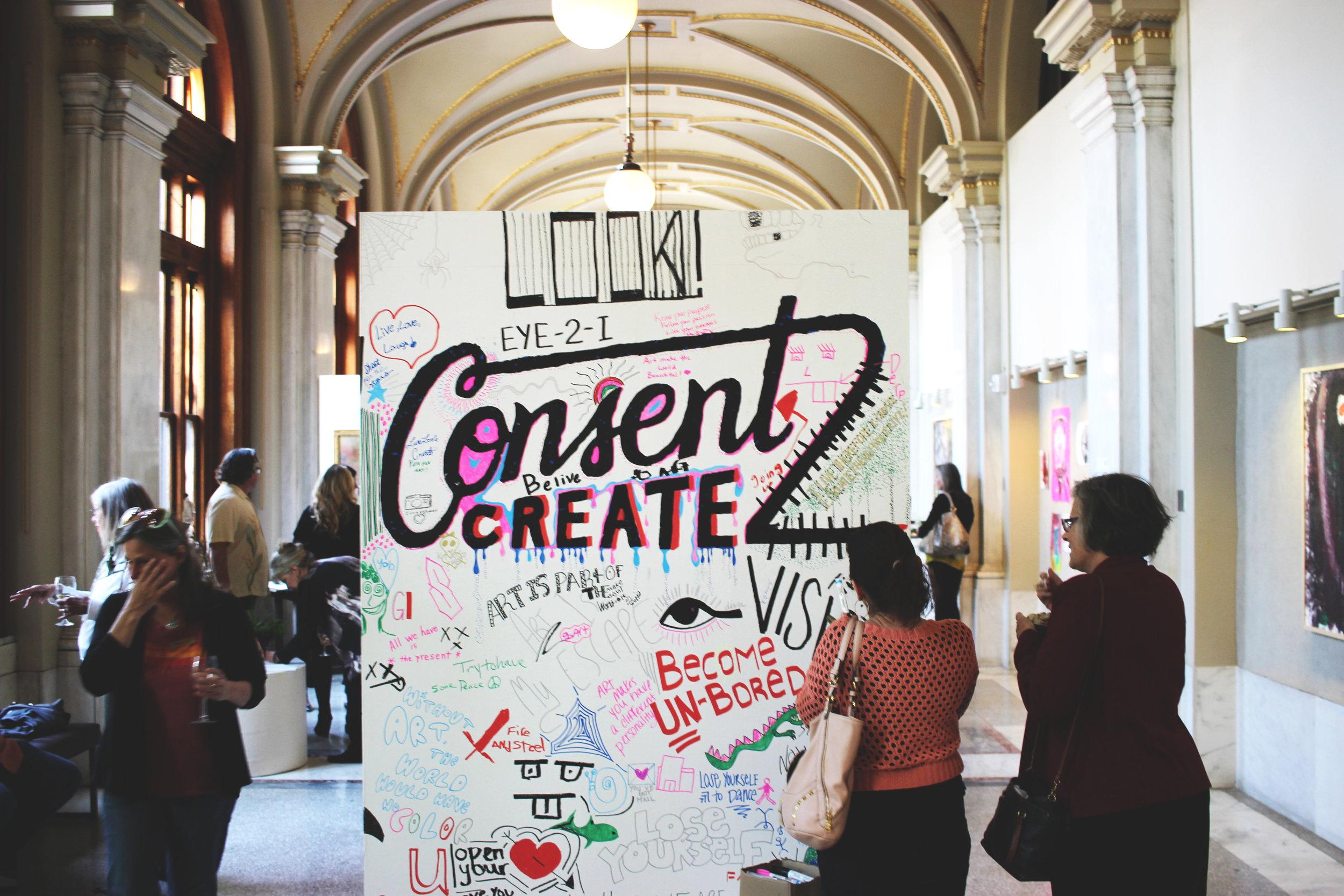 ArtForceIowa Exhibition  Consent2Create  (Curator & Installation 2015)