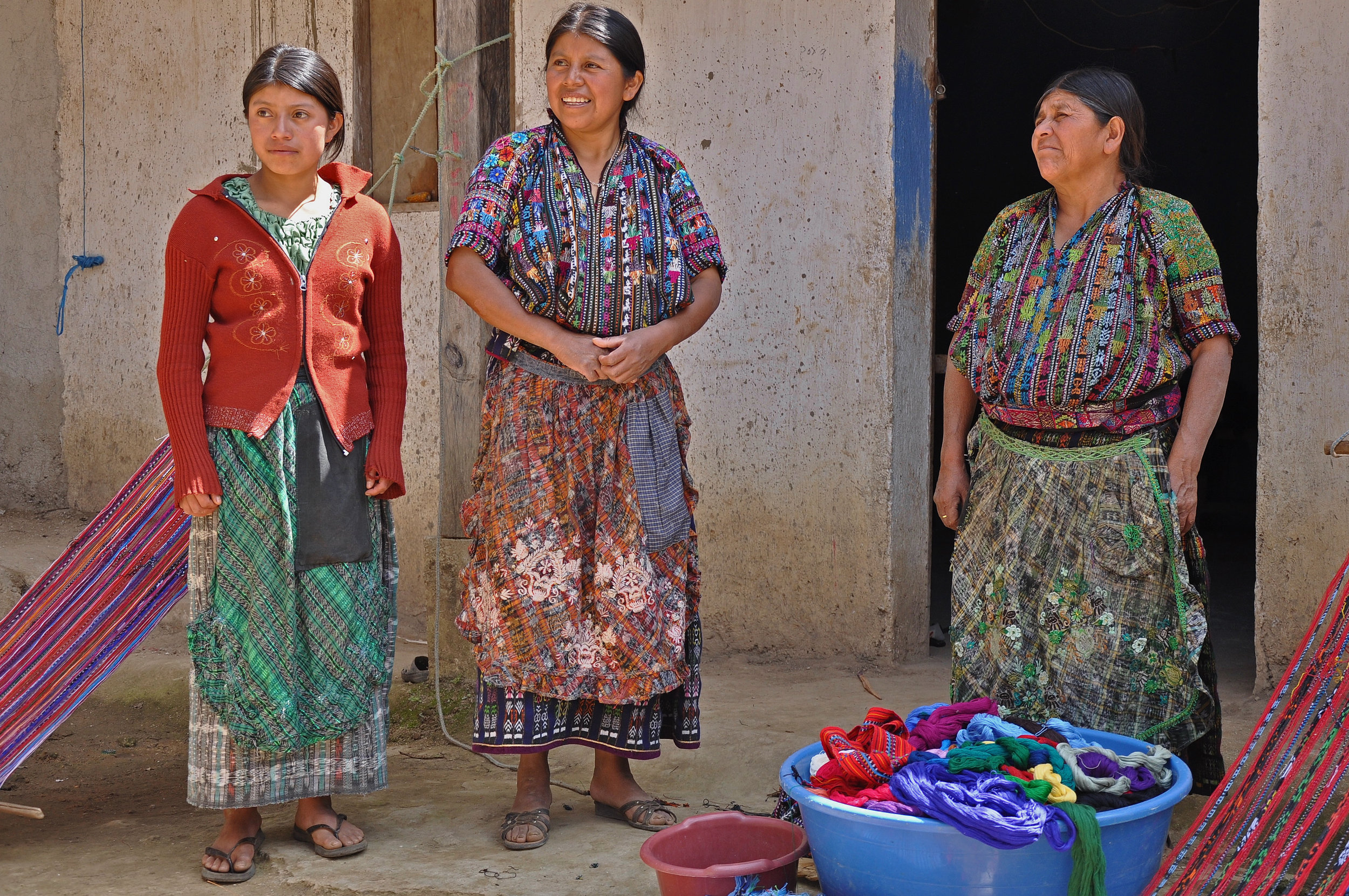 Artisans Josefa, Marcela, and Paula