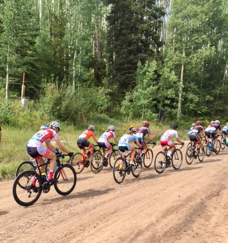 Circuit race, Stage 1 of the Colorado Classic, nothing like a gravel ascent to open up the legs.