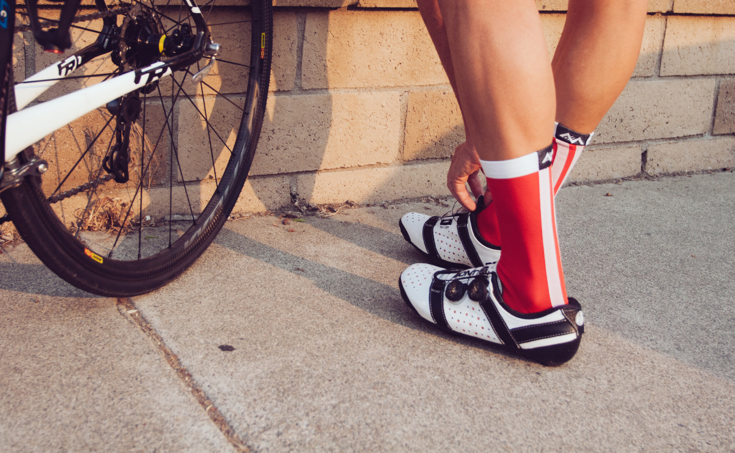 The Red Racer cycling sock from Mint.