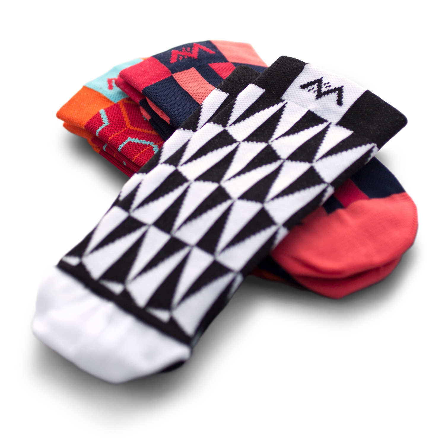Mint cycling socks are finely knit and made in Italy.