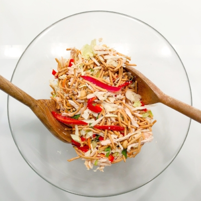 Chinese Chicken Salad with Szechuan Sauce