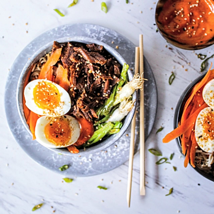 Instant Pot Korean Beef Bowls with Gochujang