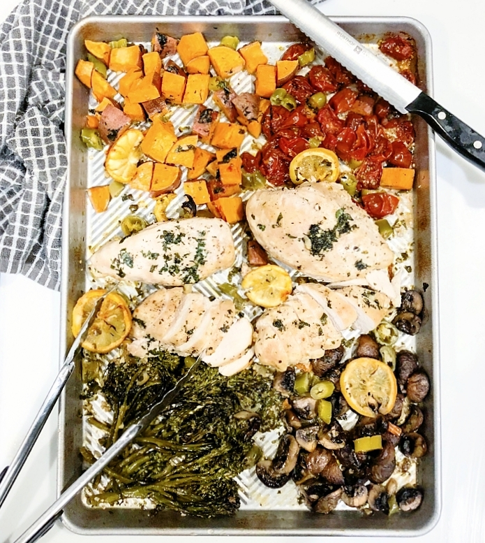 Sheet Pan Italian Chicken and Vegetables