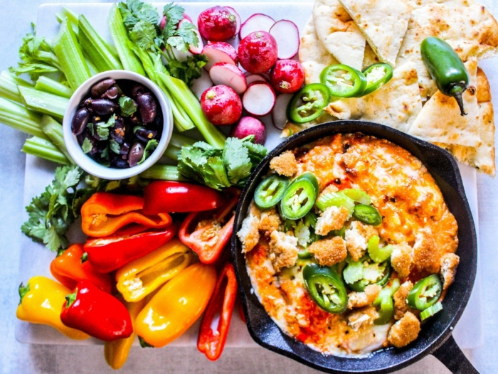 Baked Cheese dip with Indian spices