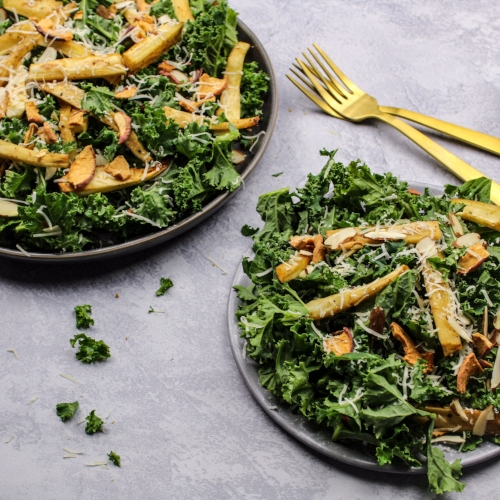 Roasted Parsnip and Kale Salad
