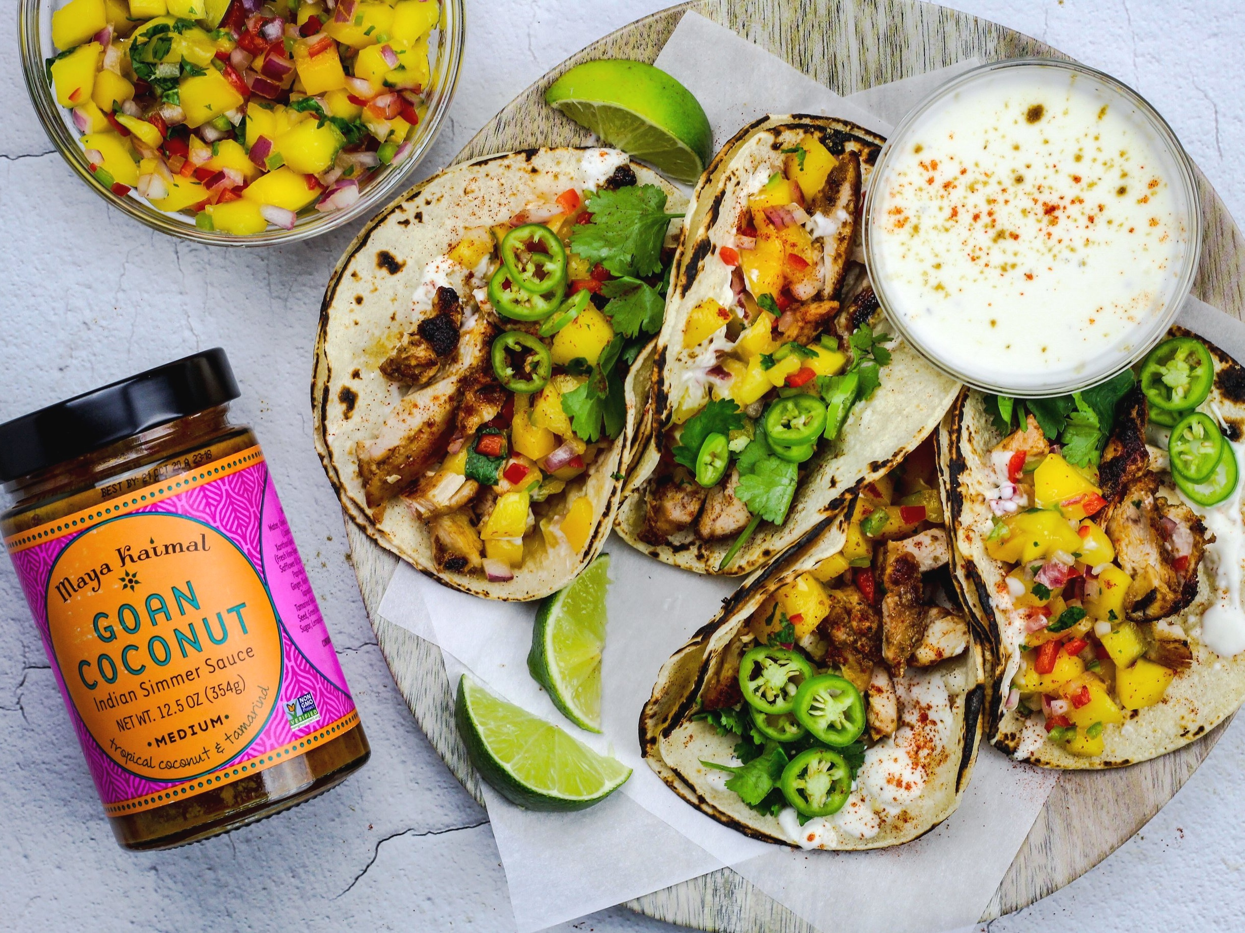 Chicken+Curry+Tacos+with+Mango+Salsa