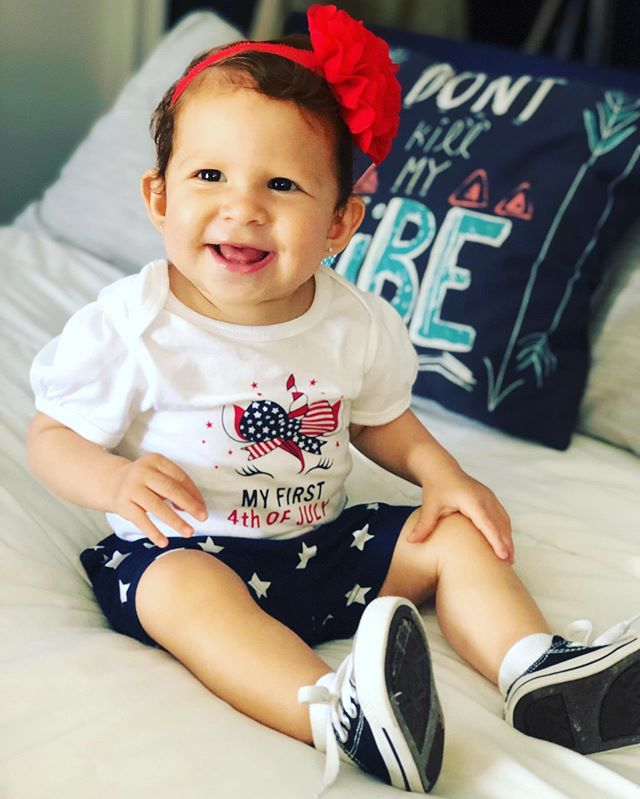 Happy 4th of July 2019! From my family to yours! : : #babygirl #fourthofjuly #aleenamae