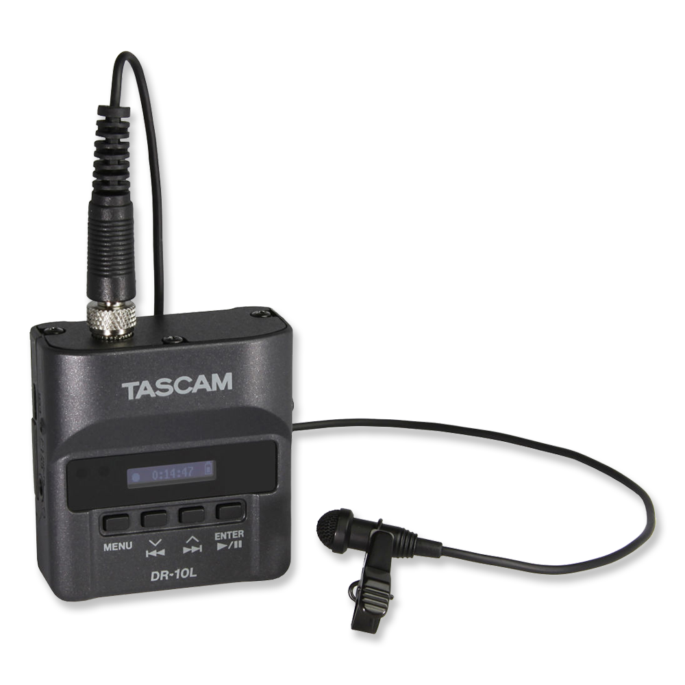 Tascam DR-10L w/ Lav Mix  -  Amazon    Fantastic all-in-one lav mic and recorder. Dual recording gives you a lower level safety track for less worrying about clipping.