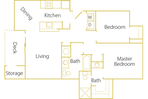 2 bed/ 2 bath - Rent $1275/mo1029 sq. feet