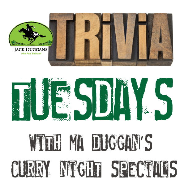 Trivia every Tuesday night from 7pm