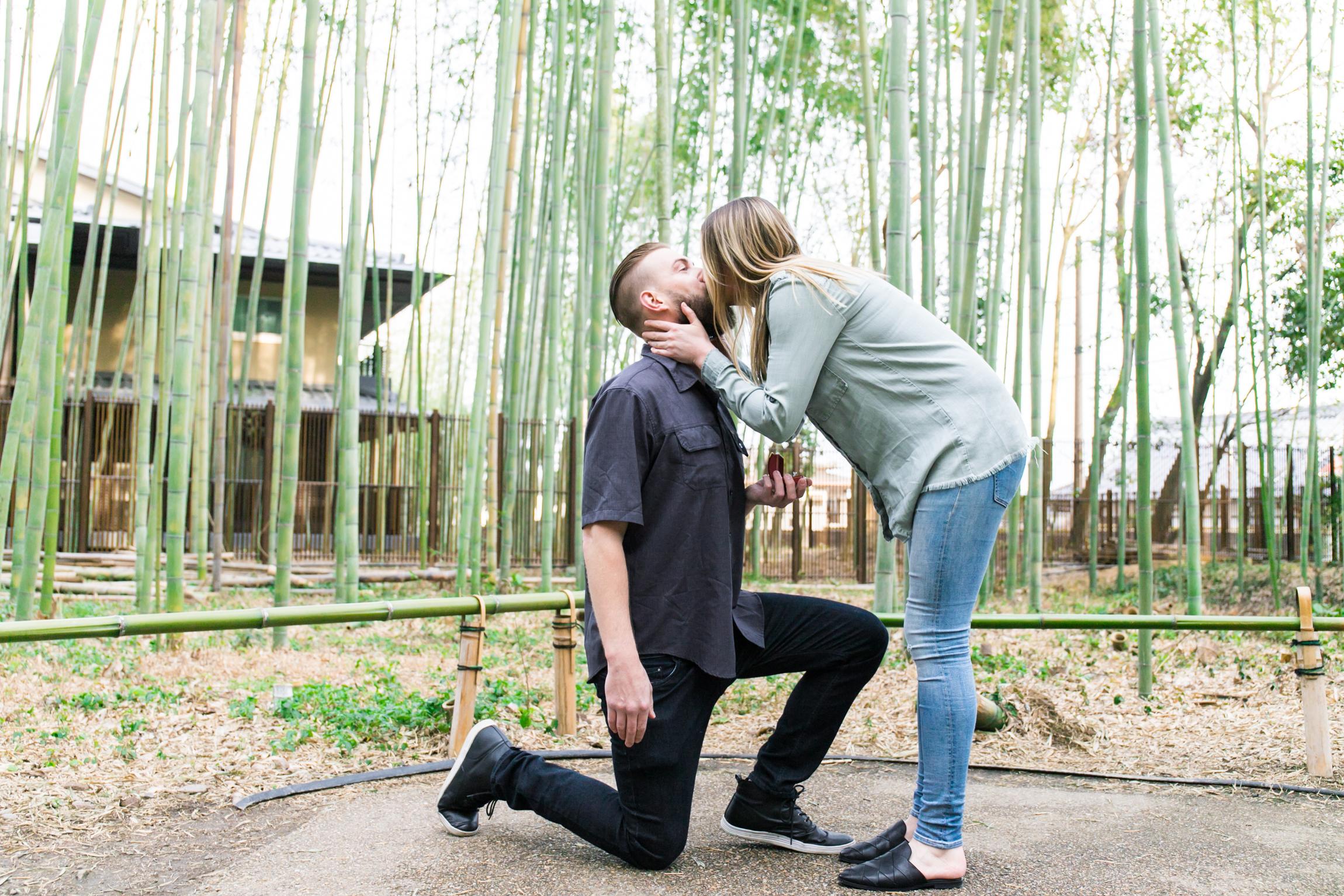 surprise proposal photo tour in Kyoto Arashiyama, Japan