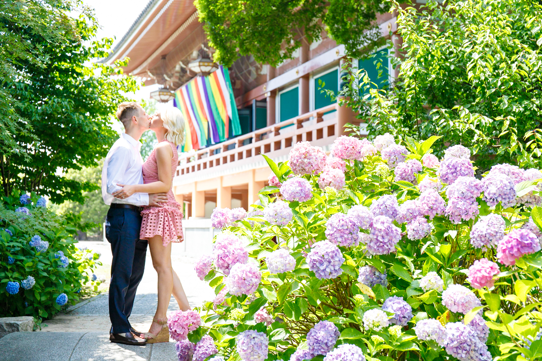 Surprised proposal photoshooting in Kyoto in June