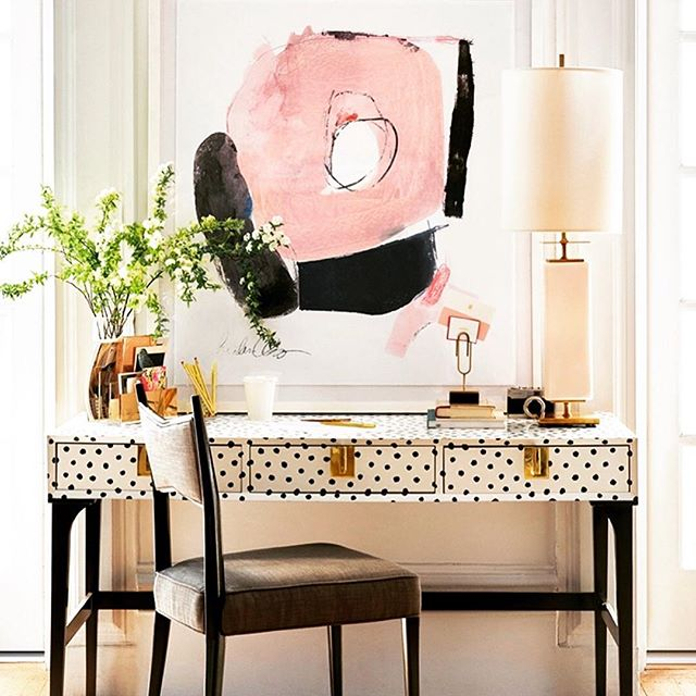 "So in love with this Sexy & Girlish ""Black on white polka dot"" desk from Kate Spade 💗🖤 . . . . . #luxe#interiors#interiordesign#architecture#interiorinspo #interiorinspiration#style#inspo#inspiration#decor#chandelier#luxury#mansion#homedecor#homedesign#elledecor #instagood#interiorinspiration#instaluxe#decorlovers#instaluxe #vogueliving #voguemagazine #interiordecorating #luxuryhomes#instadaily#interiordesigner#interiordesigners#contemporarydesign#contemporary#interiordesignlovers via @usa.home.decor . ."