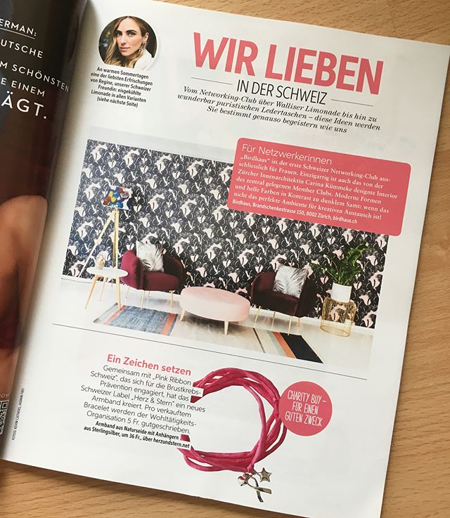 Thank you @freundinmagazin for the kind recommendation to Upscale Interiors. Also thank you to @birdhaussocial. Love the space and the idea of the first women club in Zürich. * * * #freundinmagazin #birdhouse #regineschoeller #designthelifeyoulove #zurich #interiordesign #womenpower #upscaleinteriors