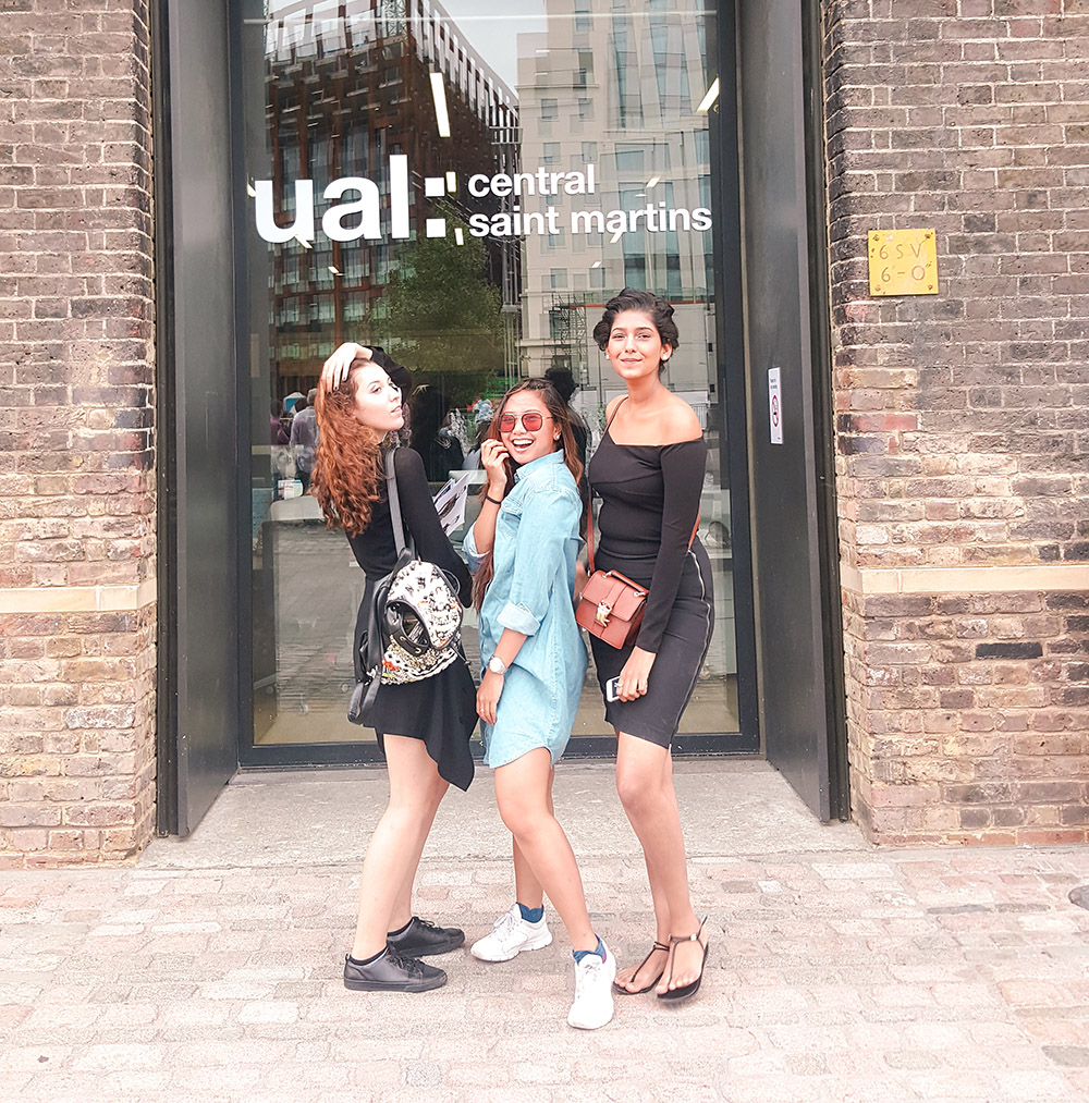 Me with some of my classmates at UAL: Central Saint Martins